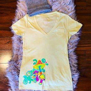 Mushroom Graphic Tee Shirt